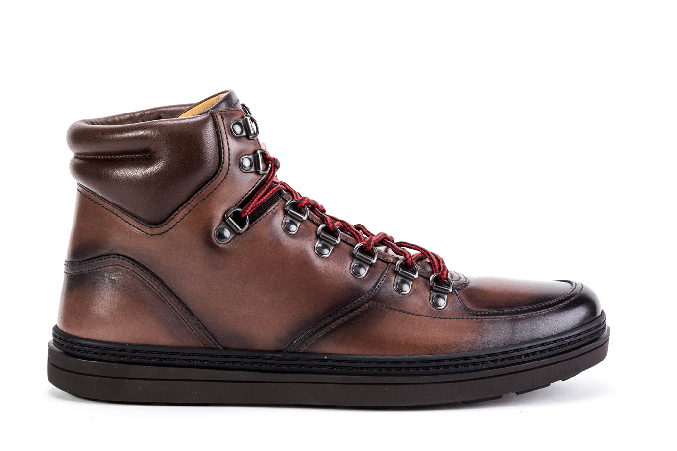 b8883b7563c Mens Ankle Boots GUCCI Trekking Shoes 368496 B66Y0 2140 Hiking Brown ...