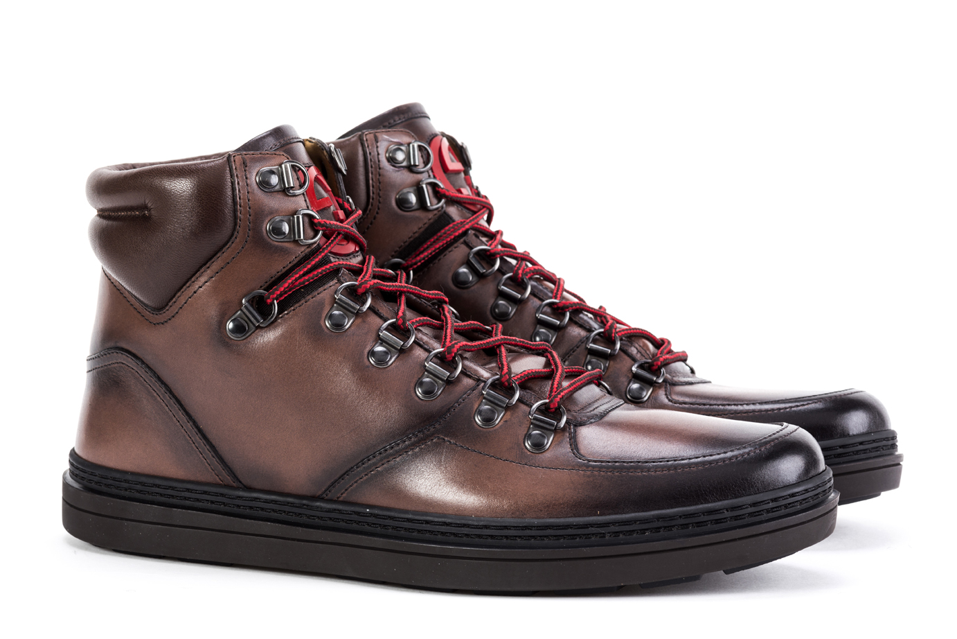 3e2a1428e36 Details about Mens Ankle Boots GUCCI Trekking Shoes 368496 B66Y0 2140  Hiking Brown Leather