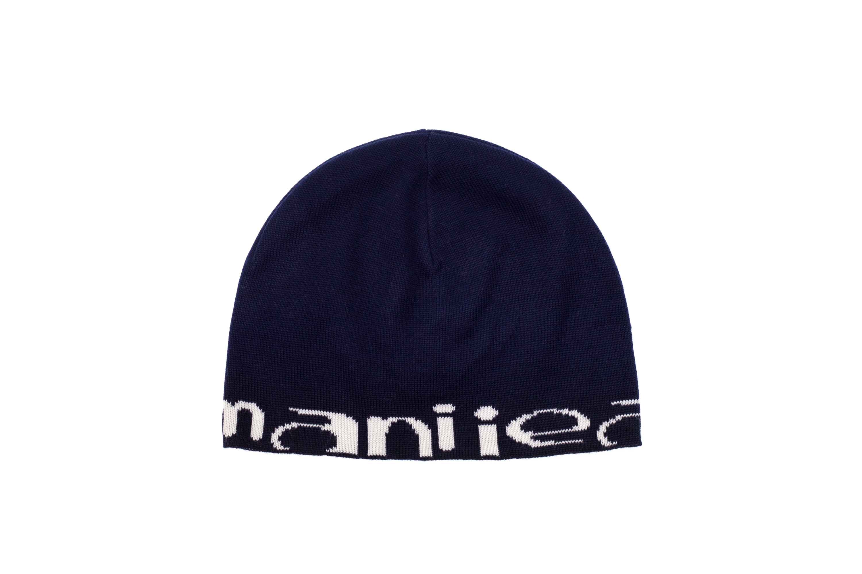 Details about ARMANI JEANS Men Winter Cuff BEANIE Hat Knit Cap Warm Blue  Wool White Logo bb48861c8a6