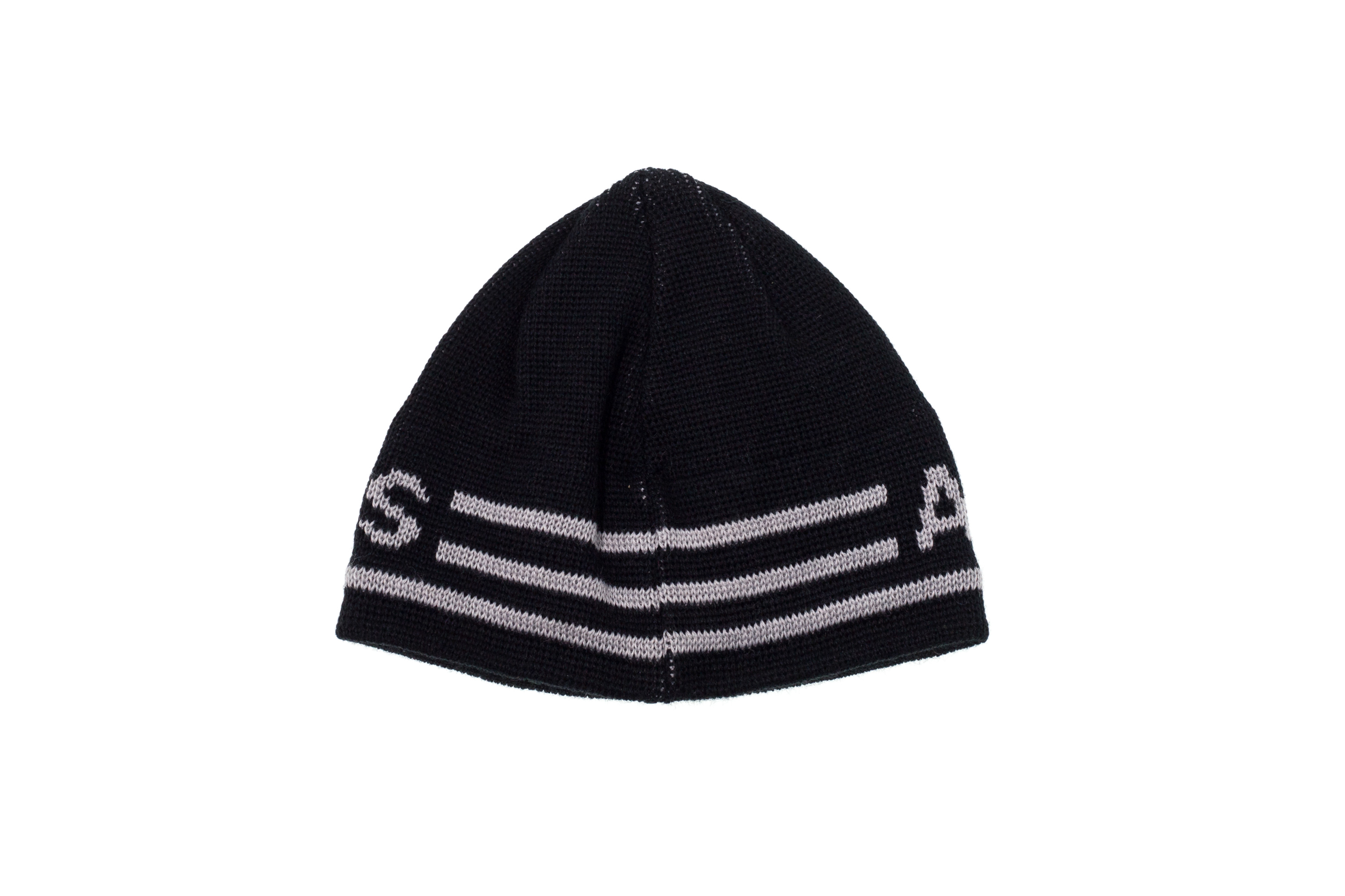 Details about ARMANI JEANS Men Winter Cuff BEANIE Hat Knit Cap Black Wool  Blend Gray Logo 44232782288