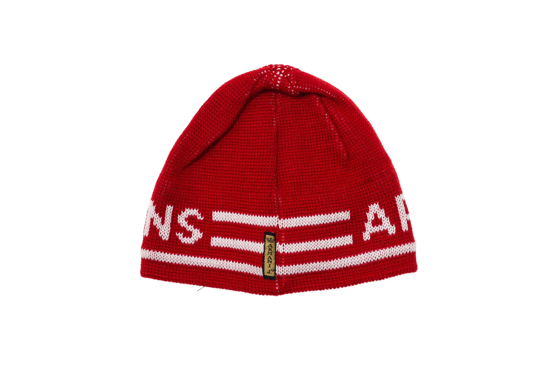 b42f0b0b9e23ad Details about ARMANI JEANS Men Winter Cuff BEANIE Hat Knit Cap Red Wool  Blend White Logo
