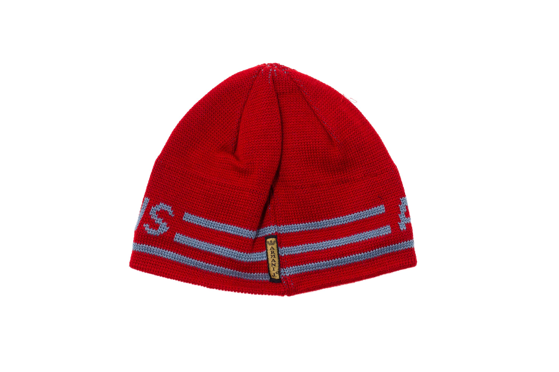 ARMANI JEANS Cappello Cappellino Cuffia Uomo Misto Lana Rossa Logo ... a7fa95913c4e