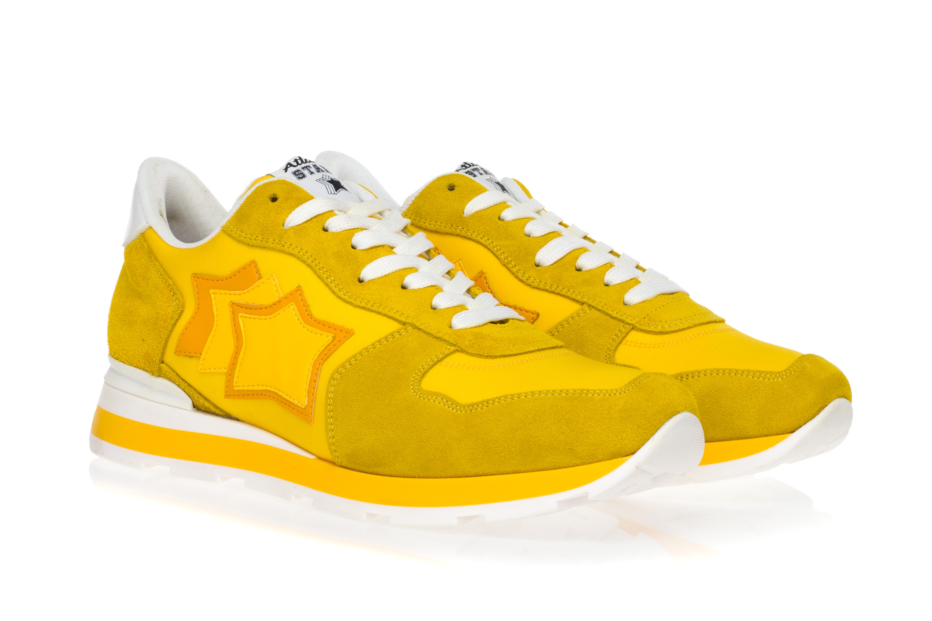 f7ff2fa11a2 ATLANTIC STARS Mens Sneakers Shoes ANTARES Yellow Suede Leather ...