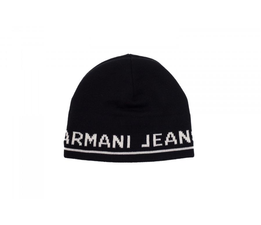 Cappello Beanie In Misto Lana Con Logo