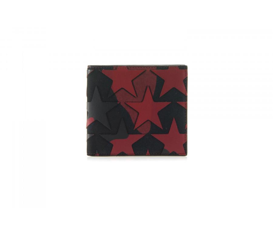 Portafoglio Bi-Fold 'Camustars' In Pelle E Canvas