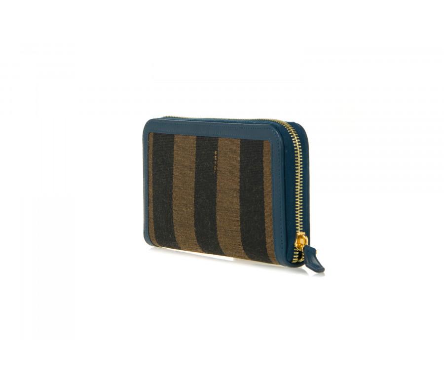Portafoglio Continental In Tessuto 'Pequin' Con Zip