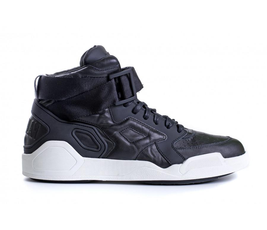 """Sneakers """"block"""" in pelle e chiusura strap"""