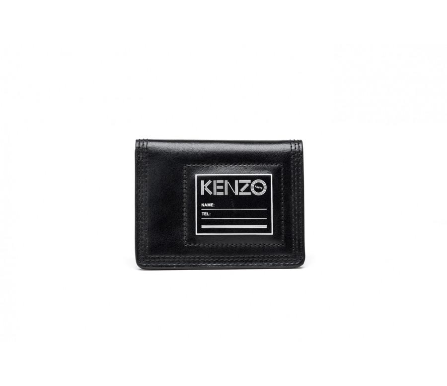 Porta carte di credito in pelle con logo