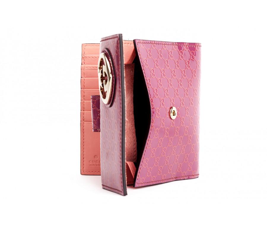 """Brieftasche aus """"guccissima"""" lackleder"""
