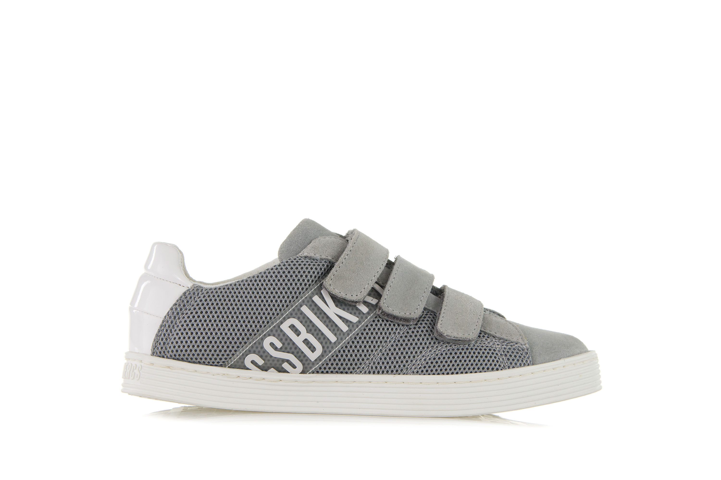 Details about BIKKEMBERGS Kids Boys Shoes Sneakers WORD I87 LOW SHOE Gray Textile Suede