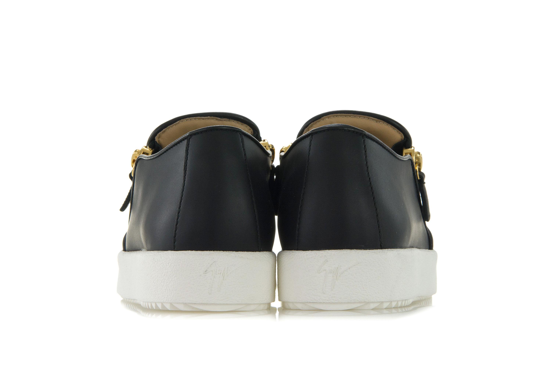 GIUSEPPE ZANOTTI DESIGN Scarpe Donna Sneakers EVE Slip-On Pelle Nera ... 634c88f9aa1