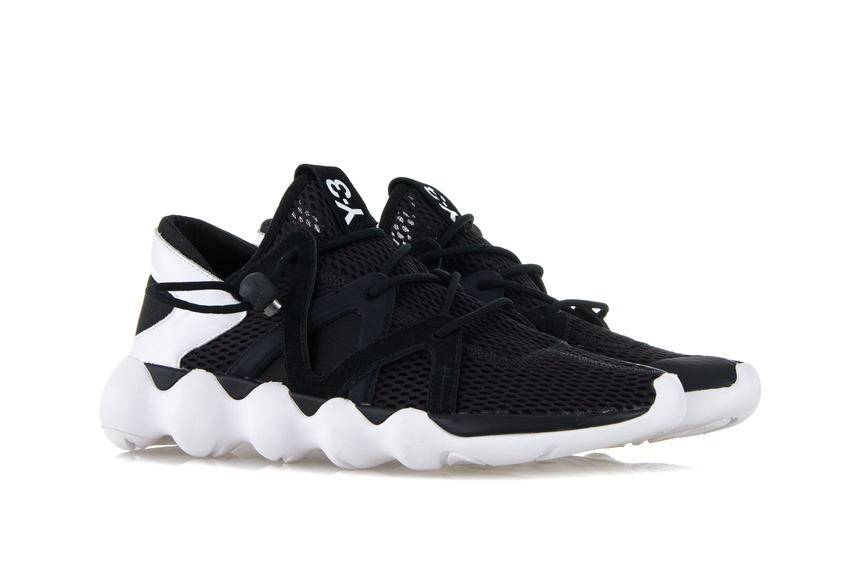 d0f281e67dfa Details about ADIDAS Y-3 Mens Shoes Sneakers KYUJO LOW Black Mesh Trainers  YOHJI YAMAMOTO