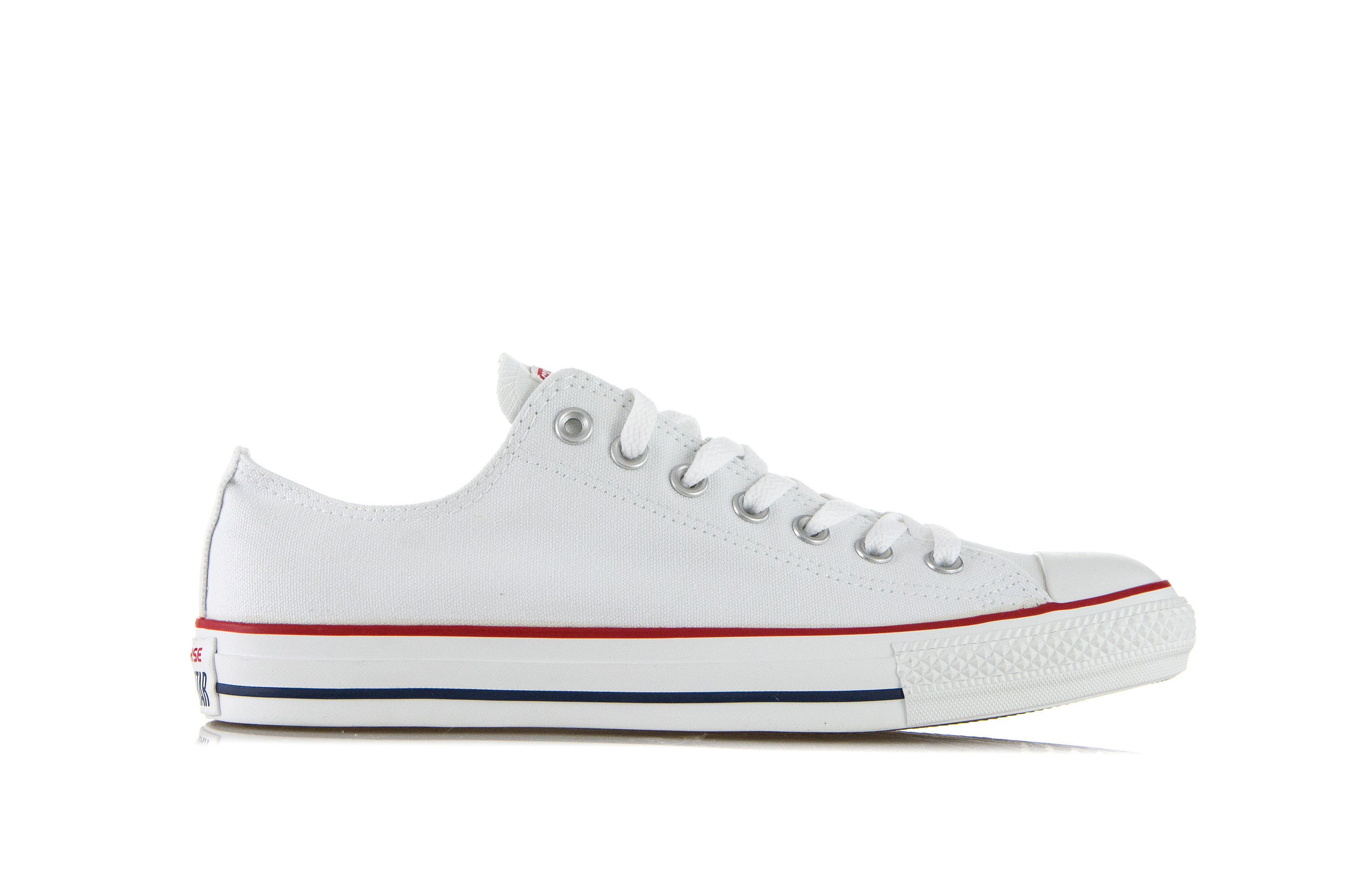 Converse Chuck Taylor All Pelle Bianca Star Lo Sneaker Basse UK 8 MEN'S