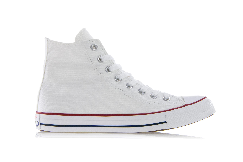 Converse All Star Hi Tops TELA BIANCA tg UK 6 WO 4 Uomo RRP 59 indossata una volta