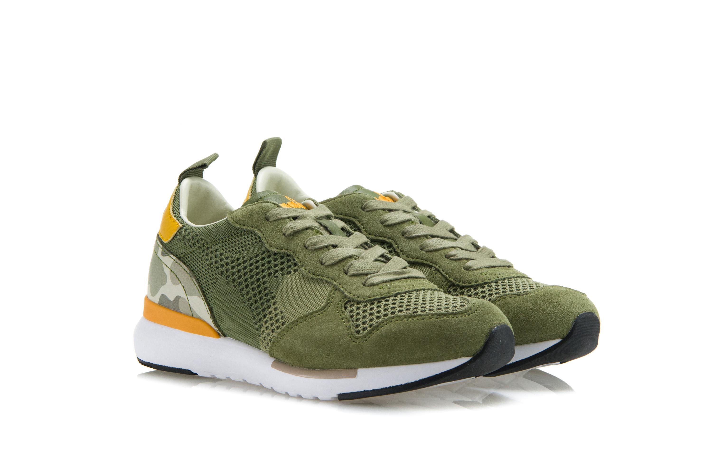 Dettagli su DIADORA HERITAGE Scarpe Sneakers Uomo Donna TRIDENT EVO LIGHT Camoscio Verde