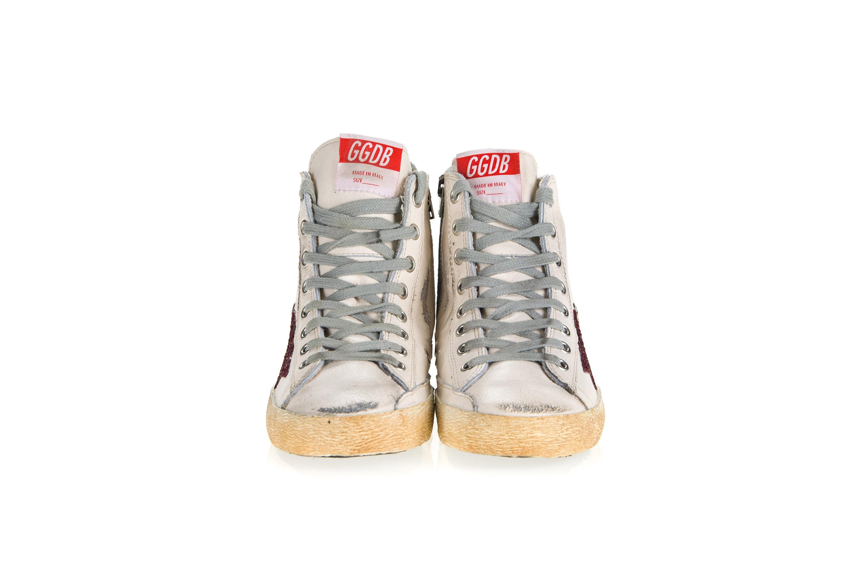 GOLDEN GOOSE Scarpe Sneakers Donna FRANCY Pelle Bianca Stella ... 92a0b62d41db