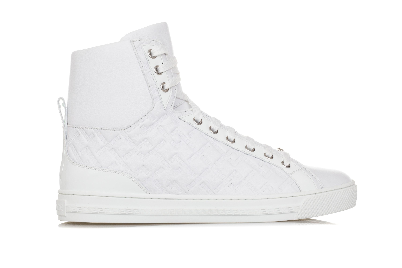 Chiave Scarpe Bianca Pelle Medusa Greca Stampa Uomo Versace Sneakers dwxHIqdY