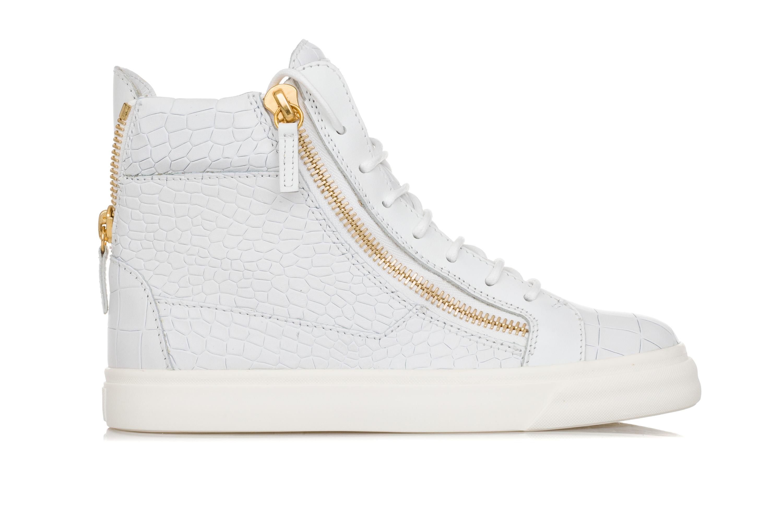 GIUSEPPE ZANOTTI DESIGN Scarpe Scarpe DESIGN Sneakers Donna LONDON Pelle Bianca Stampa Cocco bfb41e