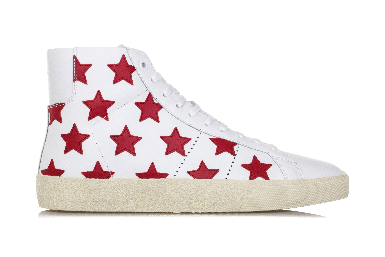 131a93e5d7 Dettagli su SAINT LAURENT Scarpe Sneakers Uomo CALIFORNIA COURT CLASSIC  SL/06M Pelle Bianca