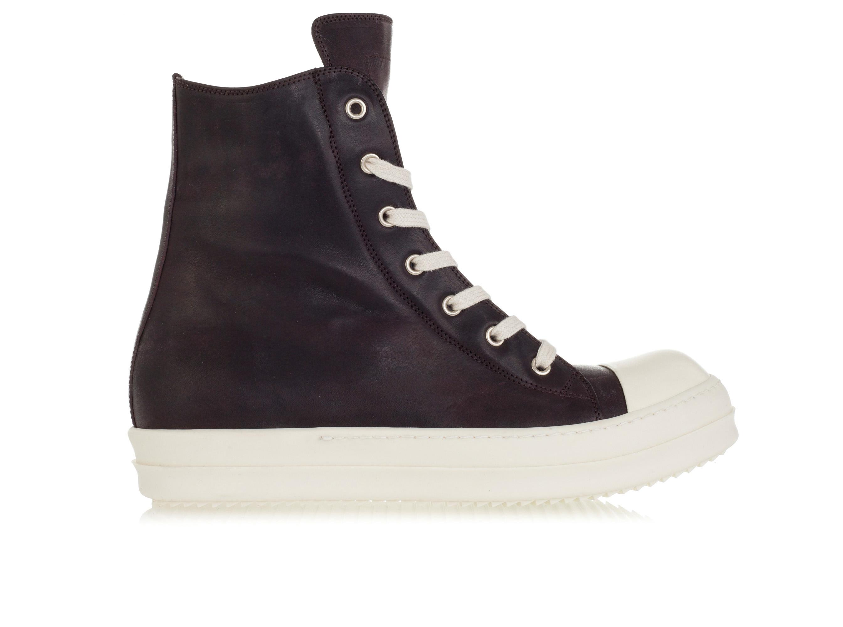 RICK OWENS Mens Shoes Hi-Top Sneakers