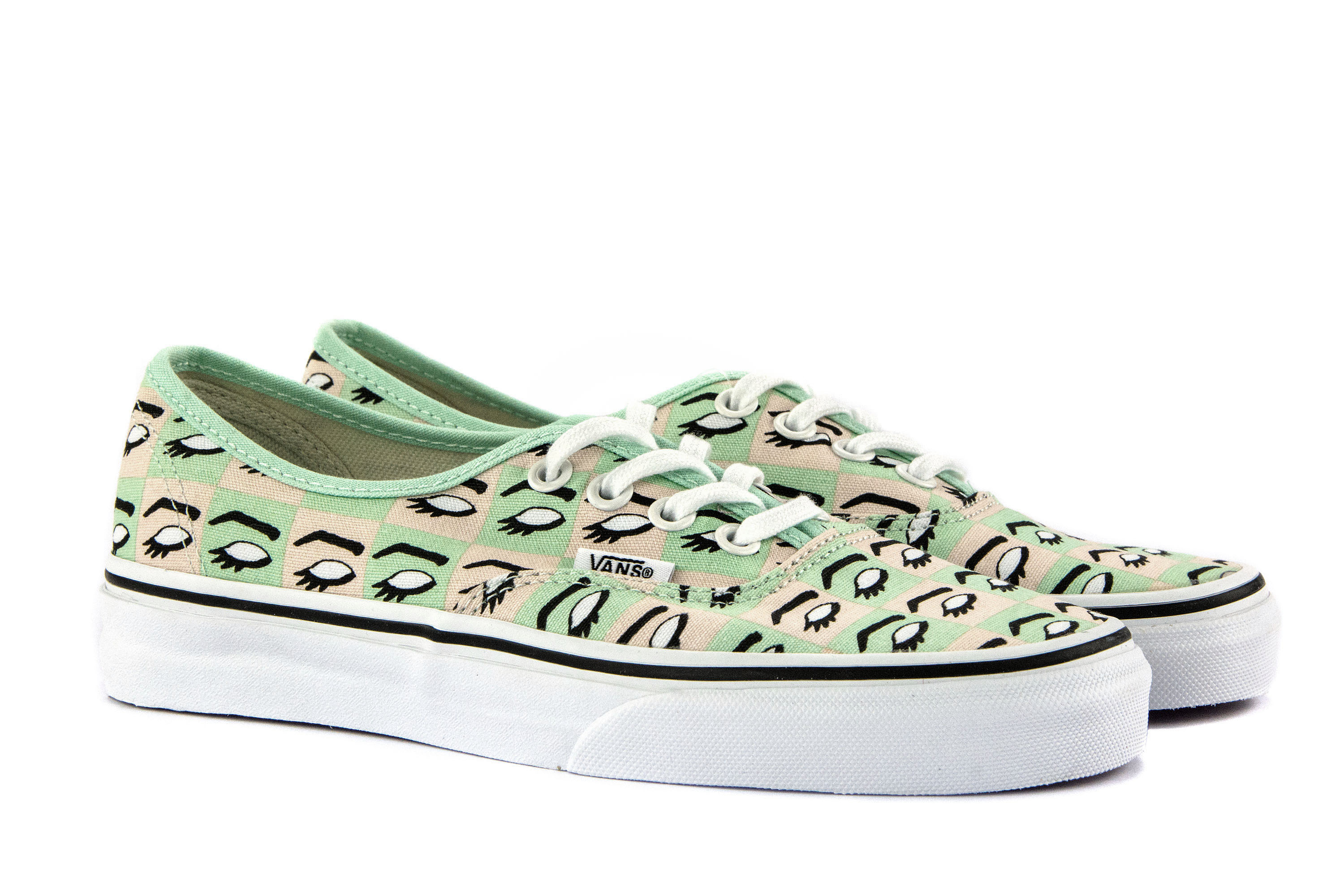 0e53414ad230f1 VANS Womens Shoes Lace-Up Sneakers AUTHENTIC (KENDRA DANDY) White ...